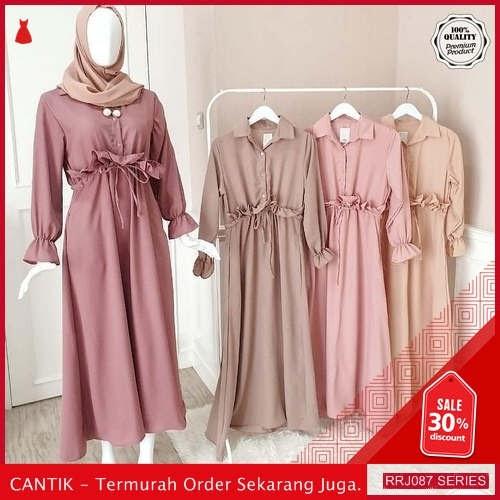 Jual RRJ087D120 Dress Serut Ruby Wanita Maxy Sf Terbaru BMGShop