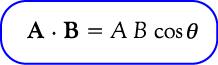 rumus perkalian skalar vektor/perkalian titik vektor jika diketahui sudutnya