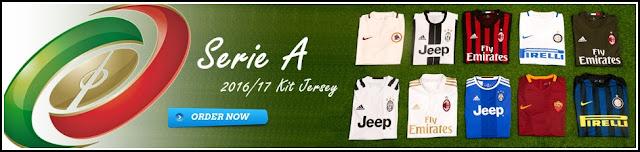 Kumpulan Jersey Terbaru Liga Italy (Serie A) Musim 2017