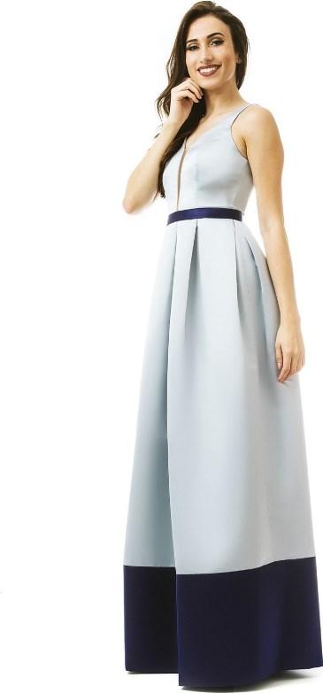 vestido de festa azul céu