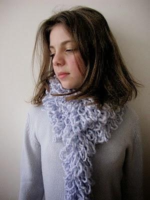 Bufanda de lana sin tejer