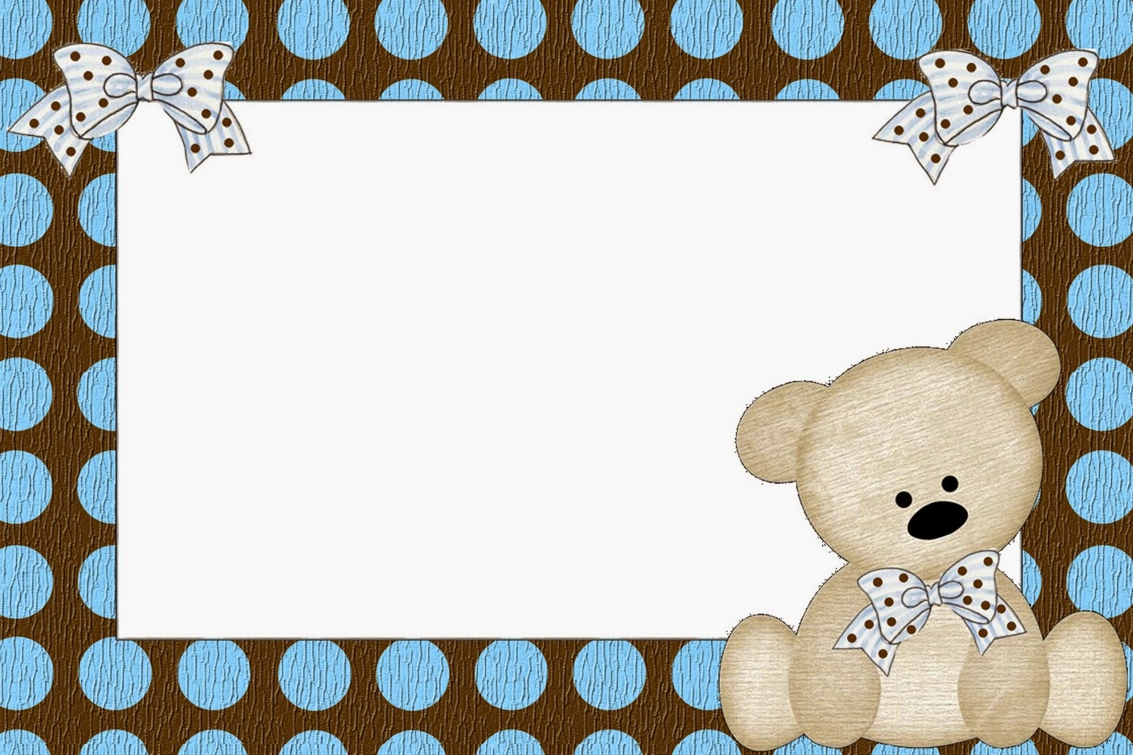Teddy Bear Family Free Printable Invitations