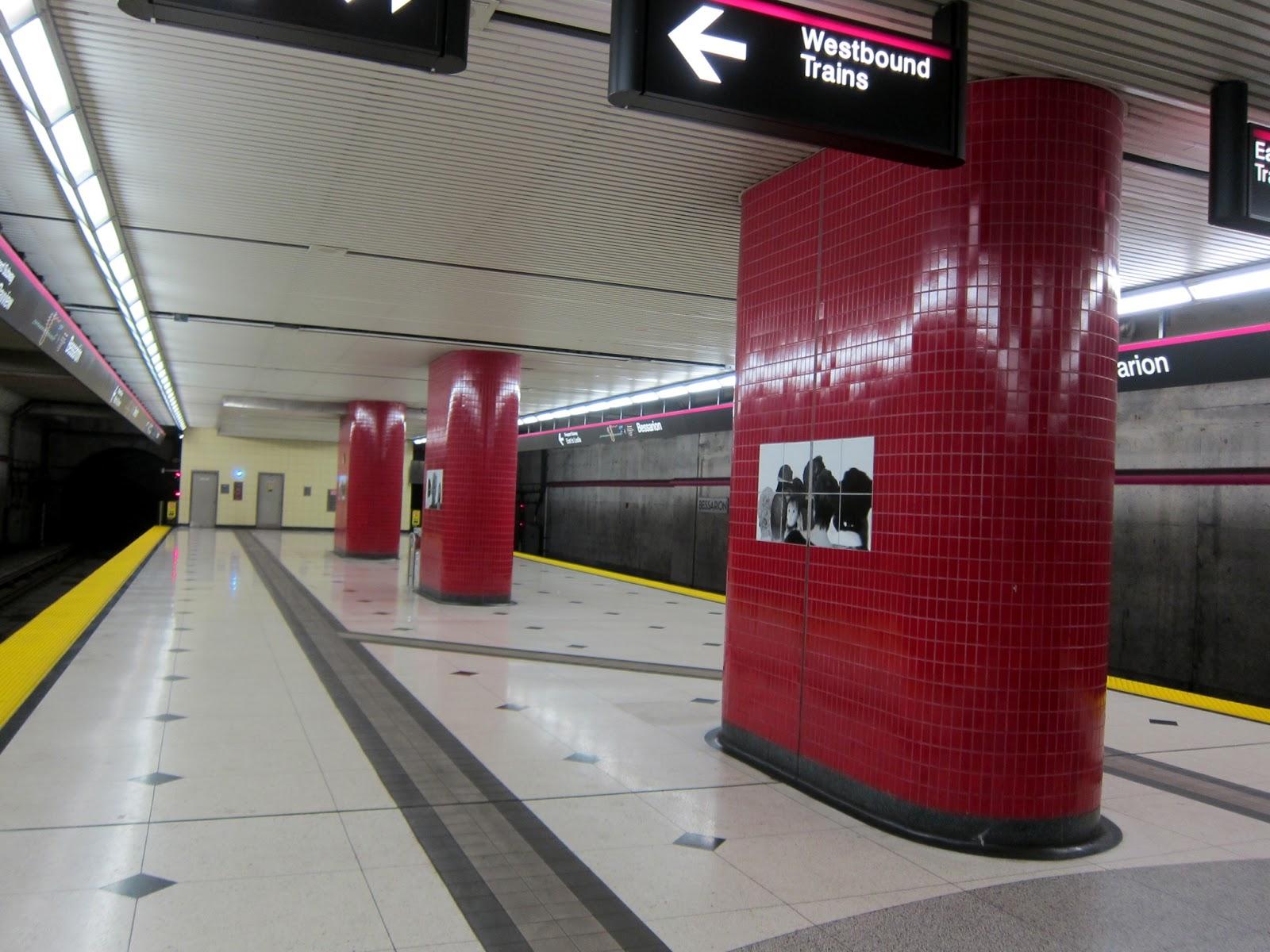 Bessarion station column photographs