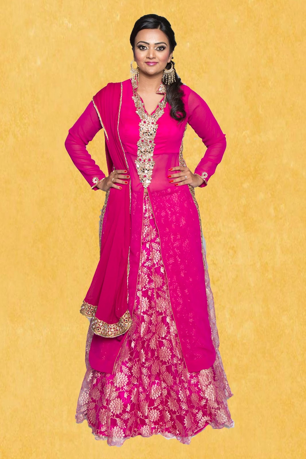 desginer lehenga, hot pink outfit, indian designer wear online, wedding lehengas online, seattle indian outfits store