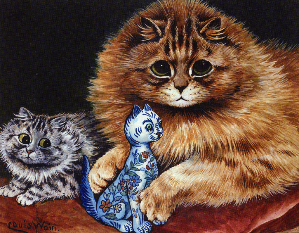 Chloe Van Paris Louis Wain 1860 1939