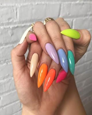 uñas de colores juveniles 2019