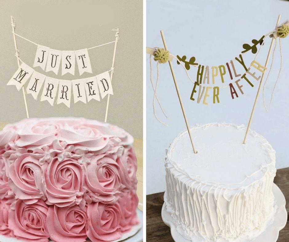 висящи надписи за сватбена торта