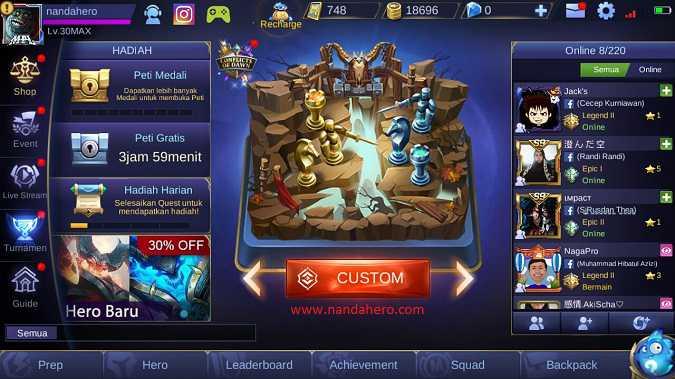 cara bermain mobile legends mode offline tanpa koneksi internet