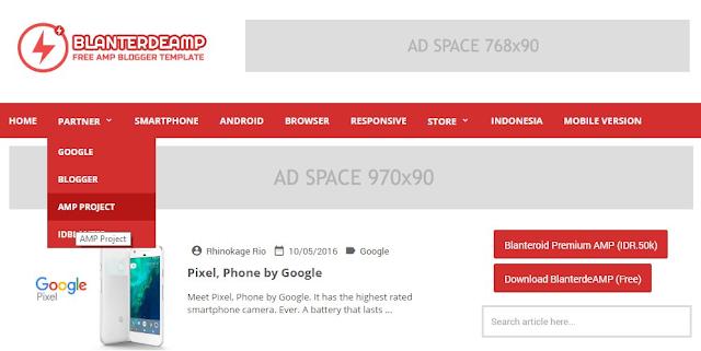 Blanterdeamp AMP HTML Responsive Blogger Template
