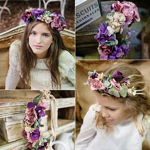Sweetandlovingwedding Coronas De Flores Para Las Ninas