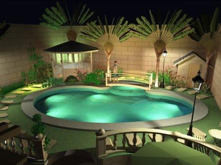 Home Design Private Small Pool
