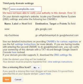 challenges when setting custom domain for blogger blog
