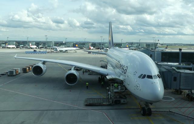 Lufthansa A380-800 in Frankfurt