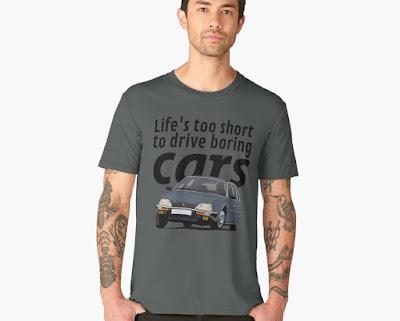 Elämä on liian lyhyt ajaa tylsillä autoilla - Citroën CX 2400 GTi  t-paita