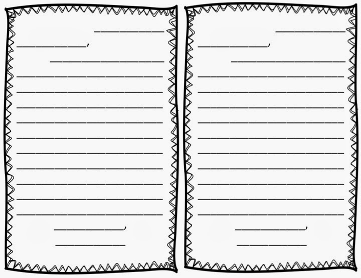 Letter writing paper for kids
