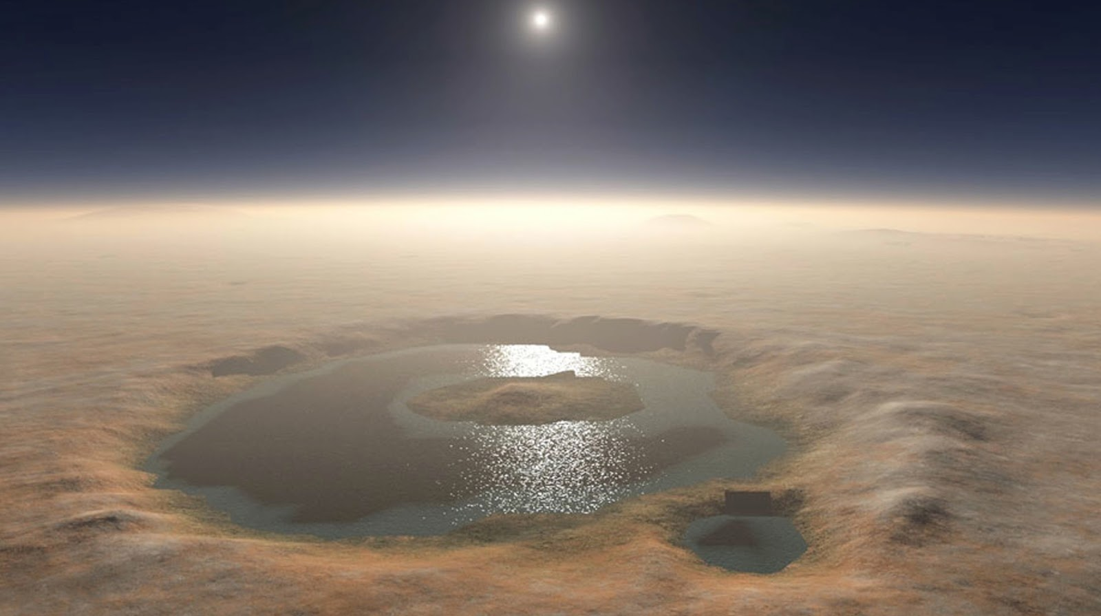 20 Billion From Bp >> Gale Crater Lake on Mars, 3 billion years ago | Earth Blog