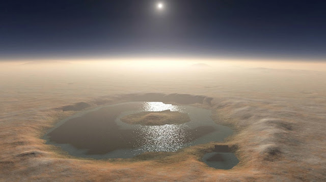 Gale Crater Lake on Mars, 3 billion years ago