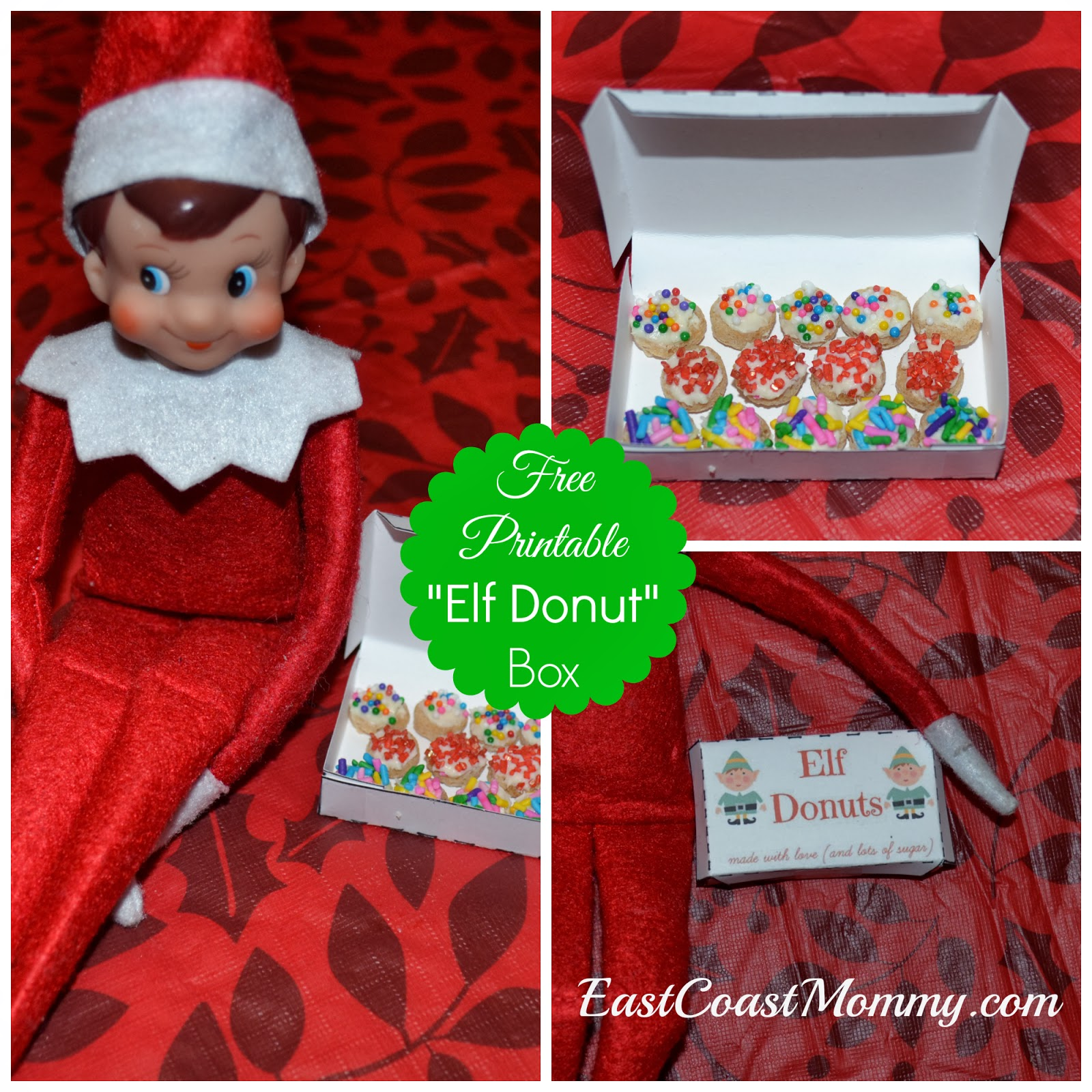 East Coast Mommy Elf On The Shelf Donuts Free Printable Box