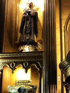 Crânio de San Martín de Porres, na Iglesia de Santo Domingo, em Lima