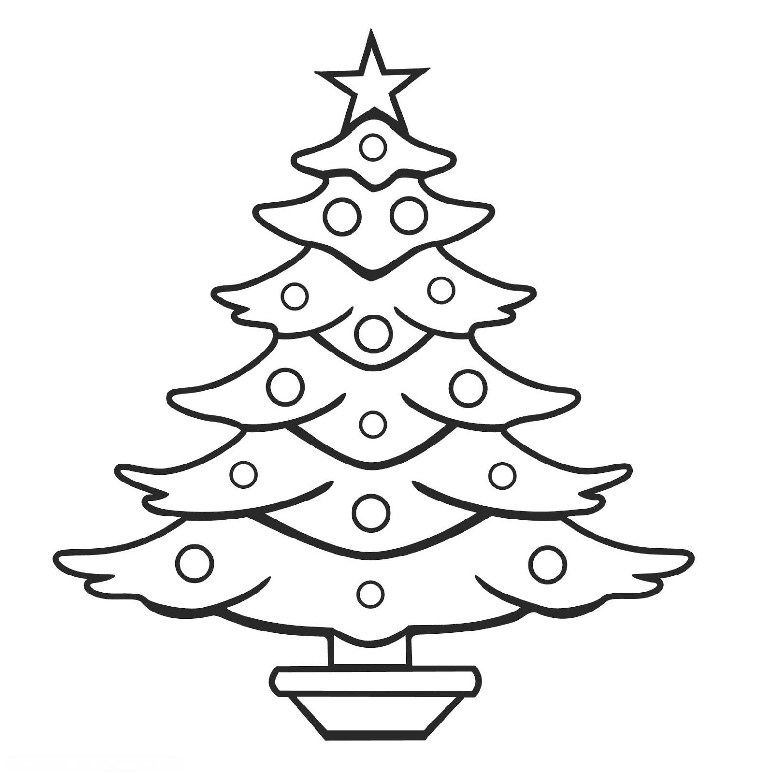 Árvore de Natal para imprimir e colorir