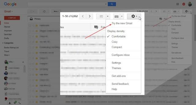 Cara mengaktifkan update dari Gmail