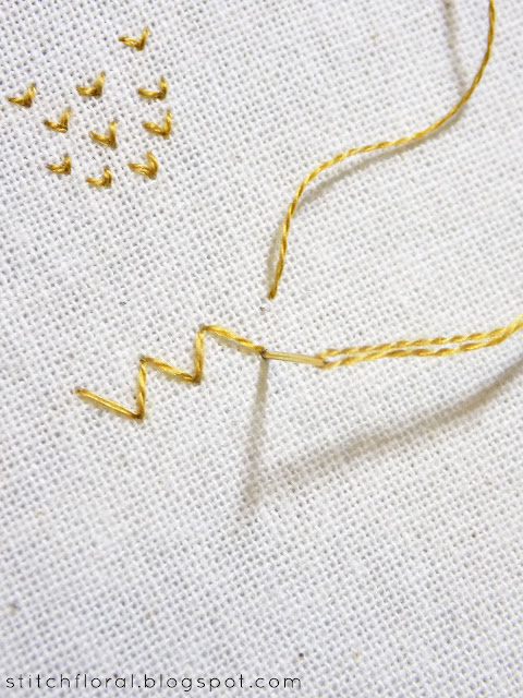 Arrowhead embroidery stitch