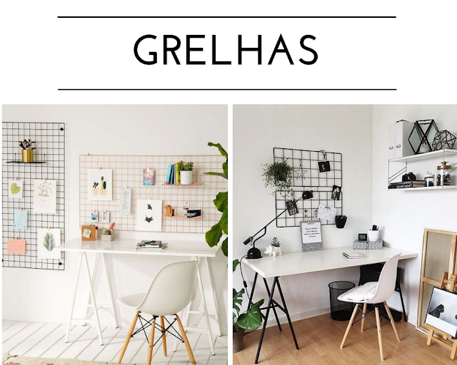 Onde comprar as grelhas para a decoração do home office?