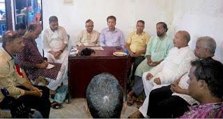 সাংবাদিকদের সাথে কানাইঘাট আ'লীগ নেতৃবৃৃন্দের মতবিনিময়