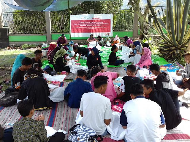 Lombok Bangkit, Skala bersama CSR Sampoerna untuk Indonesia Gelar Pelatihan Batik Shibori