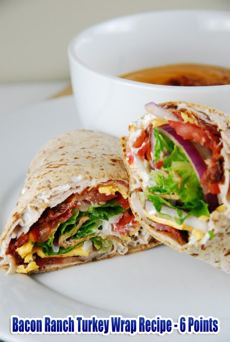 Bacon Ranch Turkey Wrap Recipe - 6 Points