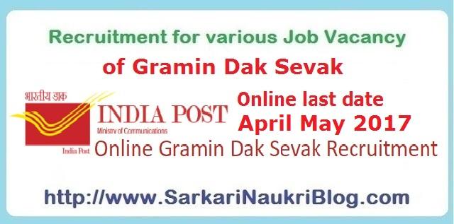 Gramin Dak Sevak vacancy recruitment India Post