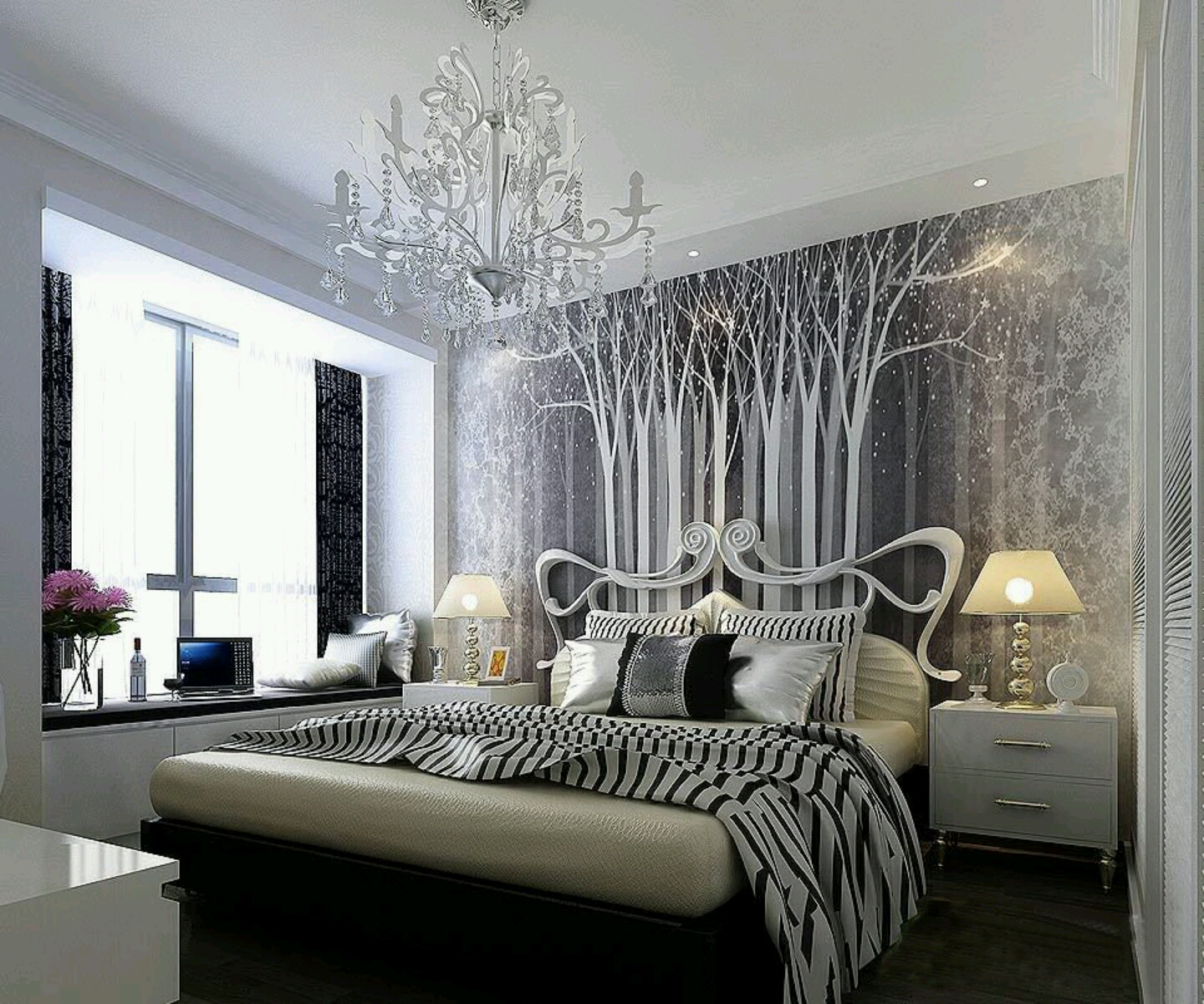 Modern bed designs beautiful bedrooms designs ideas for Modern vintage bedroom designs