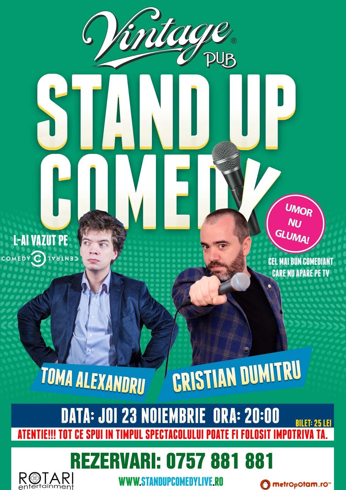 Stand-up Comedy Sibiu Jo i23 Noiembrie 2017