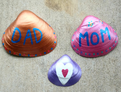 Kid's Crafts: Mother's Day and Father's Day Painted Seashells