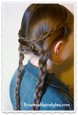 Double Braids Knotted Hairstyle