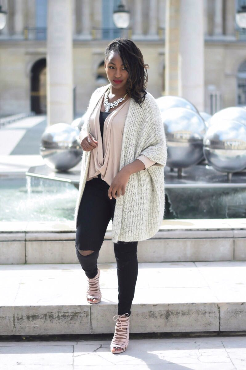 Gilet Primark - Top Asos - Jean New Look - Chaussures JustFab