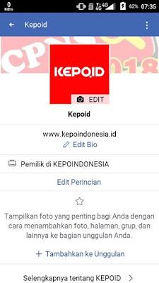 Setelah di menu profil, silakan kalian klik Edit Perincian untuk melihat atau menampilakan kapan kita Bergabung di Facebook
