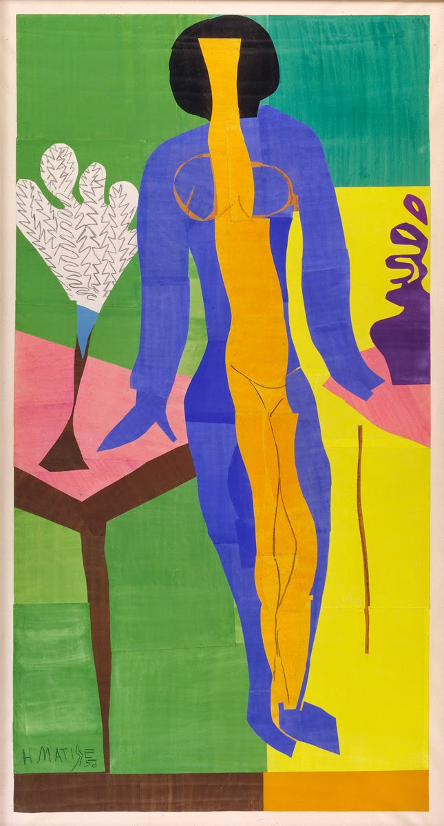left bank art blog more on henri matisse the cut outs henri matisse zulma 1950 108 x 60 inches gouache on paper statens museum for kunst national gallery of