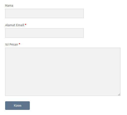 menambahkan contact form pada halaman statis