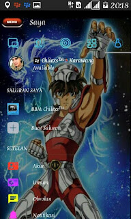 BBM Mod Color Disco Tema Saint Seiya Destiny V3.3.1.24 Apk