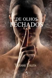 autora Tatiane Tálita de olhos fechados