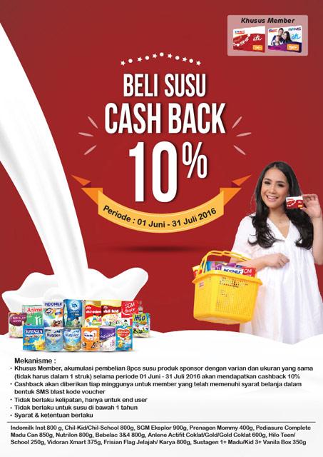 Beli Susu Cash Back 10% – Alfamart