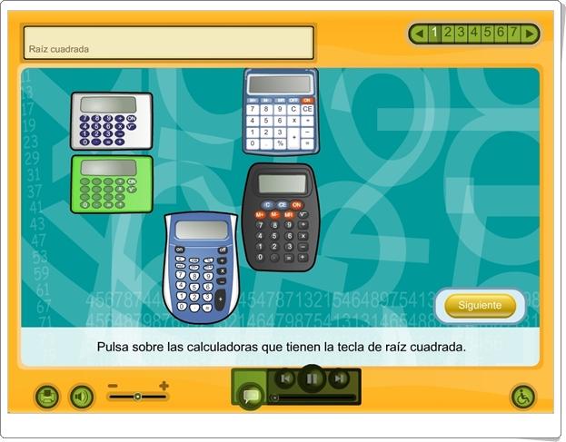 """""""Raíz cuadrada"""" (Aplicación interactiva de Matemáticas de 6º de Primaria)"""