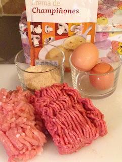 Fiambre con pollo y champiñones, ingredientes