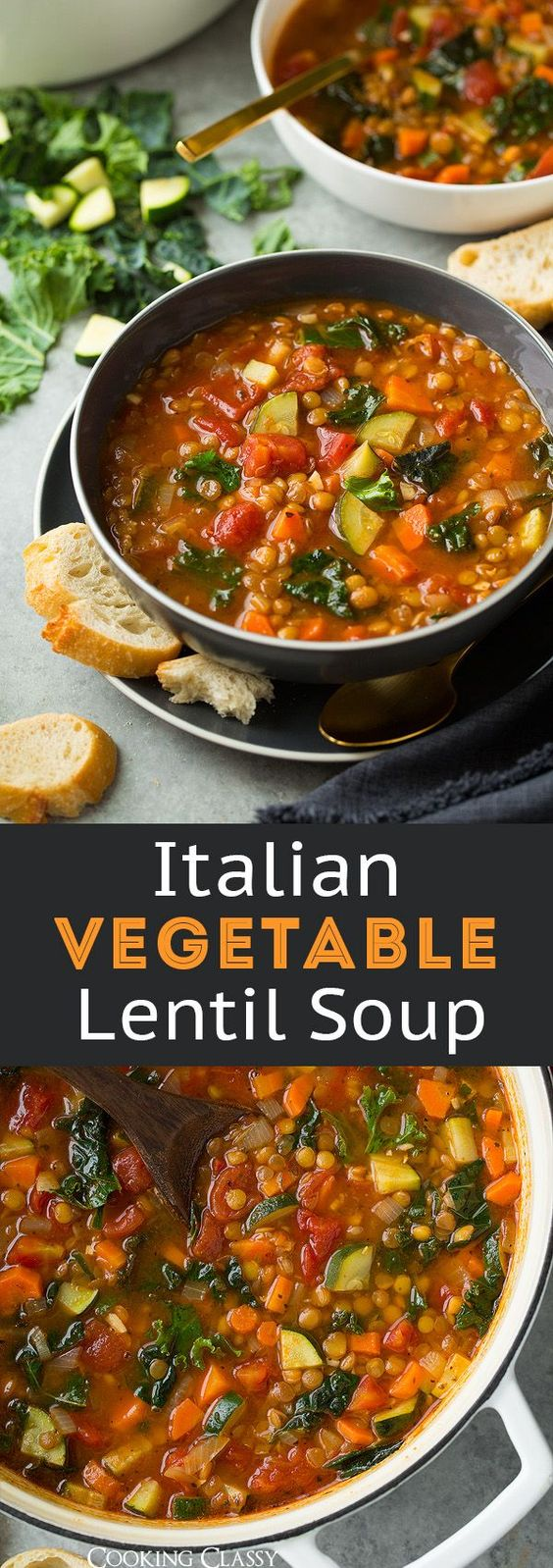 Lentil Soup (Italian Vegetable)  #lentil #lentilsoup #italianfood #italiansoup #soup #souprecipes #healthysouprecipes #italianvegetable