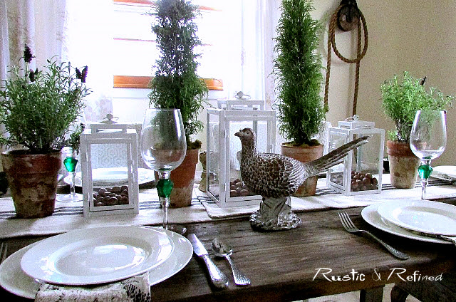 Green and white tablescape inspiration