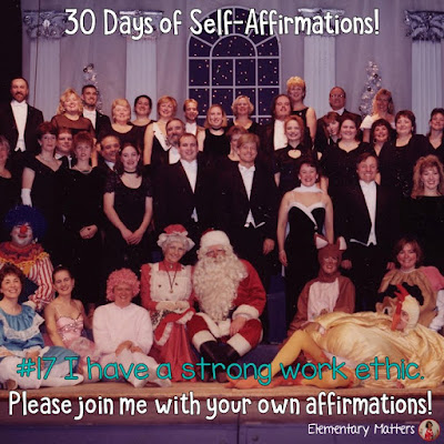 """30 Days of Self-Affirmations: Day 17: I have a strong work ethic! For 30 days, I will be celebrating my own """"new year"""" with self-affirmations. If you are interested in joining me, feel free to write your own affirmations here, or respond on my social media here:  http://bit.ly/2lf093O"""