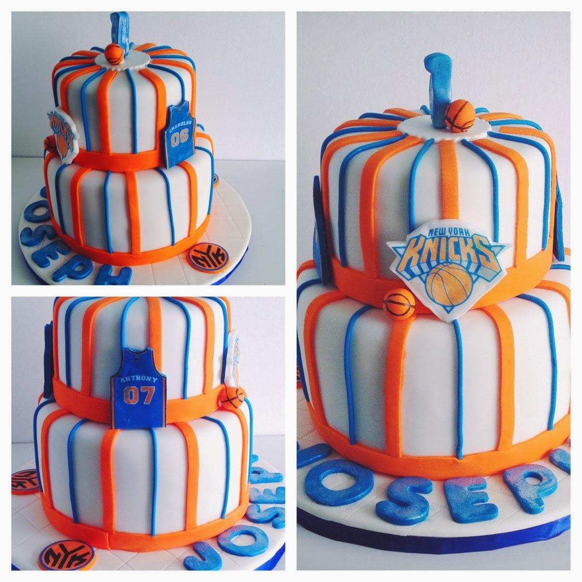 NY Knicks 1st Birthday Cake
