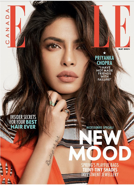 Priyanka Chopra Covers ELLE Canada Magazine May 2018 Issue
