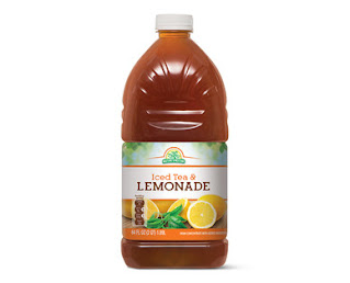 Stock image of Nature's Nectar Iced Tea and Lemonade Beverage, from Aldi